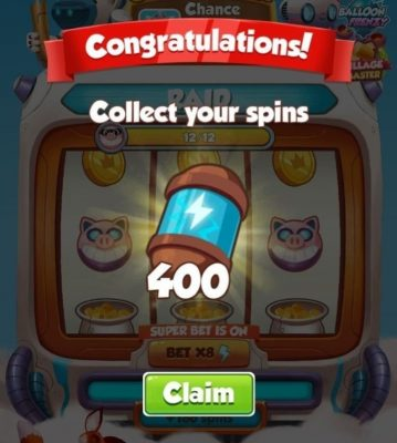 Coin Master 400 Spin Link 2021