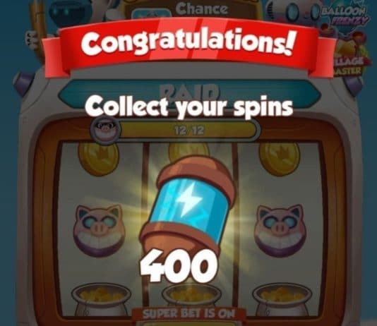Coin Master 400 Spin Link
