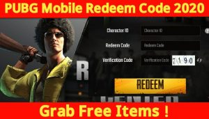 PUBG Mobile Redeem Code Today